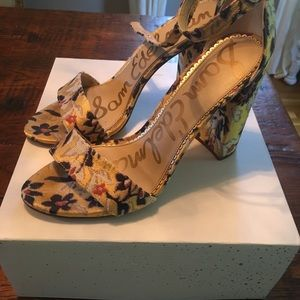 Sam Edelman Yaro block heel strap Gold Sandal